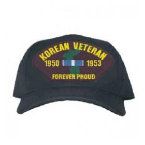 Korean Veteran 1950 - 1953 Forever Proud Cap with Ribbons and Map