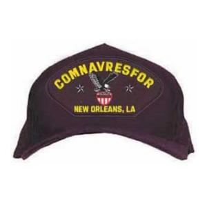 COMNAVRESFOR New Orleans, LA Cap with Emblem (Dark Navy)