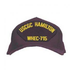 USCGC Hamilton WHEC-715 Cap Letters Only (Dark Navy) (Direct Embroidered)
