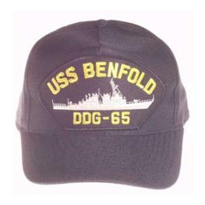 USS Benfold DDG-65 Cap (Dark Navy) (direct Embroidered)