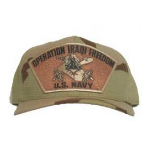 Operation Iraqi Freedom US Navy Cap with Emblem (Desert Camo)