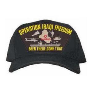Operation Iraqi Freedom Been There Done That Cap with Emblem (Black)