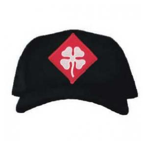 Cap with 4th Army Patch (Black)