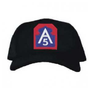Cap with 5th Army Patch (Black)