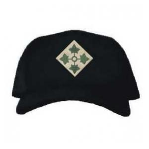 Cap with 4th Infantry Division Patch (Black)