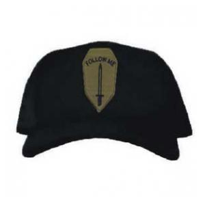 Cap with Infantry School Patch Subdued (Black)