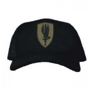 Cap with 1st Aviation Brigade Patch Subdued (Black)