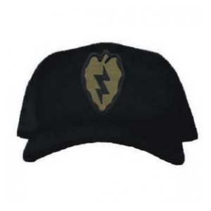 Cap with 25th Infantry Division Patch Subdued (Black)