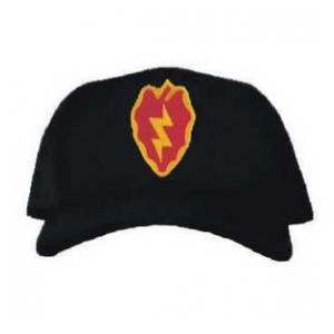 Cap with 25th Infantry Division Patch (Black)