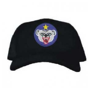 Cap with Alaskan Defense Command Patch (Black)