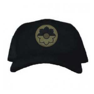 Cap with 9th Infantry Division Patch Subdued (Black)
