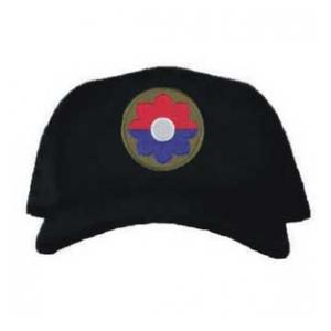 Cap with 9th Infantry Division Patch (Black)