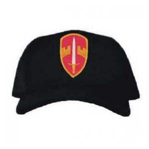 Cap with Military Assistance Command Vietnam Veteran Patch (Black)