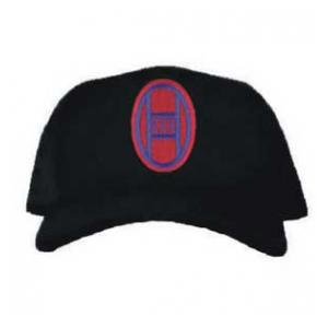 Cap with 30th Infantry Division Patch (Black)