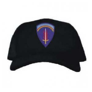 Cap with Army Europe Patch (Black)