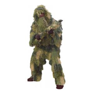 5 Piece Adult Ghillie Suit - Woodland Camouflage