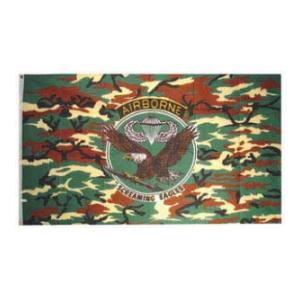 101st Airborne Division Flag (Patch on Camo) (3' x 5')