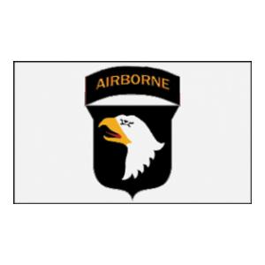 101st  Airborne Division Flag (Patch only on White) (3' x 5')
