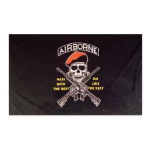 Airborne Mess with the Best Flag (3' x 5')