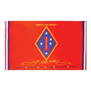 Marines 1st Division Flag (Red) (3' x 5')