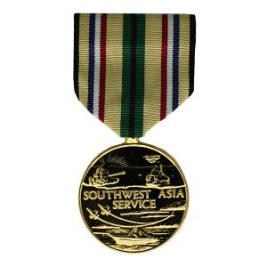 Southwest Asia Service Anodized Medal (Full Size)