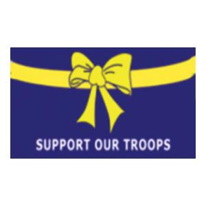Support Our Troops with Yellow RIbbon Flag (3' x 5')
