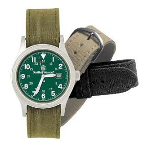 Smith & Wesson® Military Watch with Three Straps (Olive Drab Face)