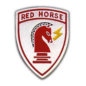 Air Force Red Horse Pin