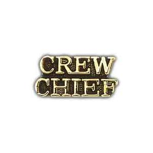 Air Force Scripted Crew Chief Pin
