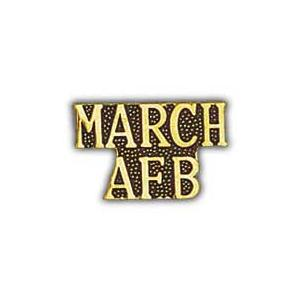 Air Force Scripted March AFB Pin