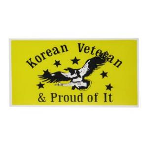 Korean Veteran & Proud Of It Inside Window Decal