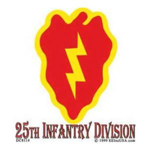 25th Infantry Division Inside Window Decal
