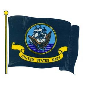 Navy Flag Outside Window Decal