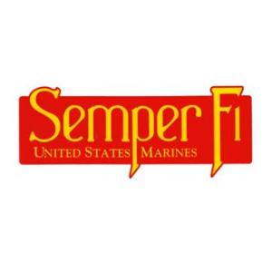Semper Fi Outside Window Decal