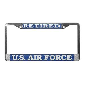 Air Force Retired License Plate Frame