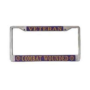 Veteran Combat Wounded License Plate Frame