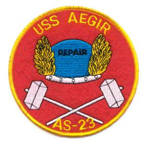 USS Aegir AS-23 Ship Patch