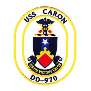 USS Caron DD-970 Ship Patch