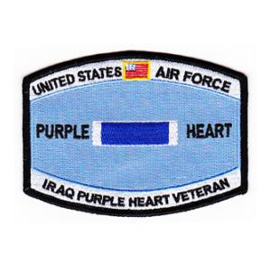 Air Force Purple Heart Iraq Patch