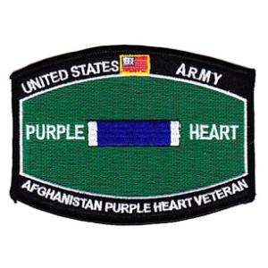 Army Purple Heart Afghanistan Patch