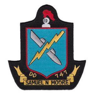 USS Samuel Moore DD-747 Ship Patch
