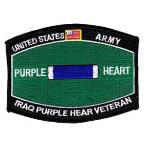 Army Purple Heart Iraq Patch