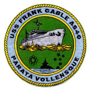 USS Frank Cable AS-40 Ship Patch