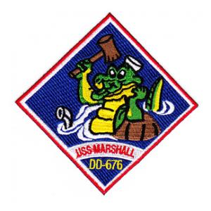 USS Marshall DD-676 Ship Patch