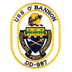 USS O'Bannon DD-987 Ship Patch