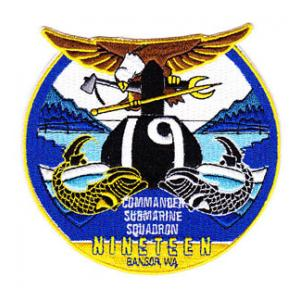 Commander Submarine Squadron COMSUBRON 19 Patch