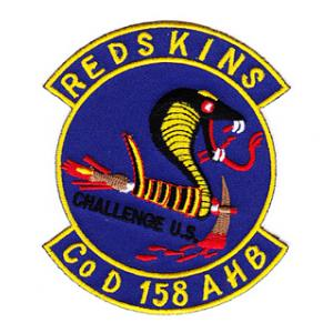 Redskins Co D 158 AHB Patch