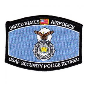 United States Air Force Security Police Retired MOS Patch