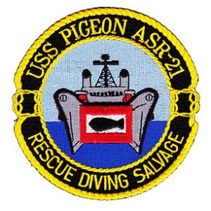 USS Pigeon ASR-21 Rescue Diving Salvage Patch