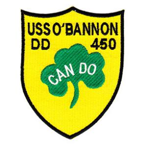 USS O'Bannon DD-450 Ship Patch